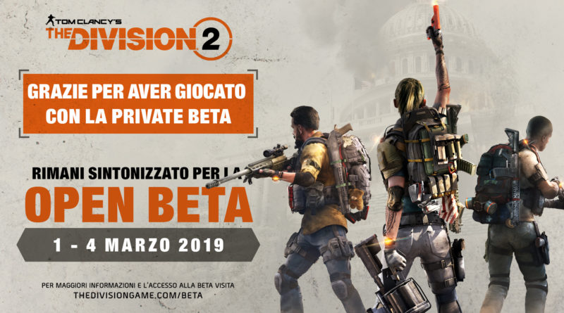 Open Beta di The Division 2 – Date ufficiali